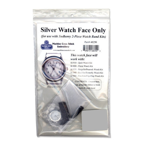 Silver Watch Face with 2 Piece Band, Sudberry House