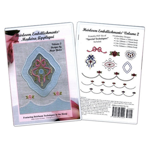 Heirloom Embellishments 2 Madeira Applique CD
