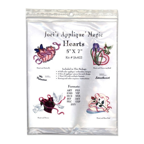 Hearts Design CD by Joei's Applique Magic