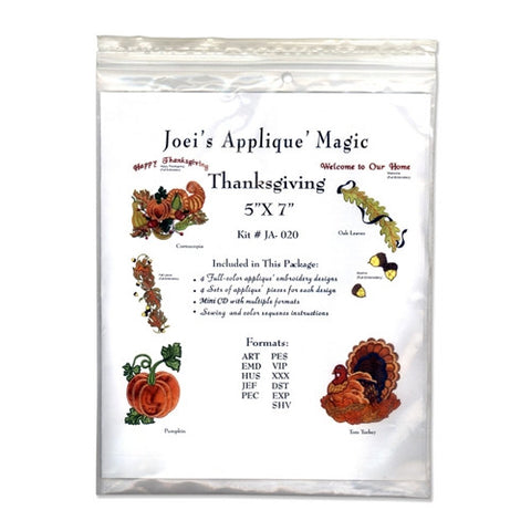 Thanksgiving Design CD by Joei's Applique Magic