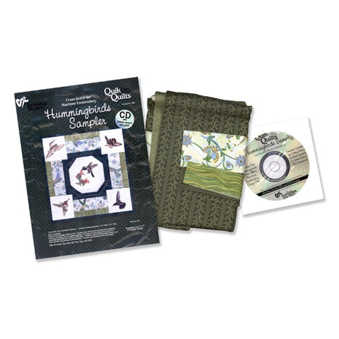 Hummingbirds Sampler Quik Quilt Kit by Vermillion