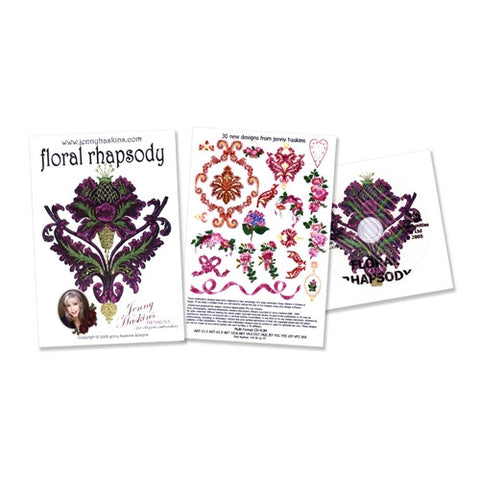 Floral Rhapsody Design CD by Jenny Haskins
