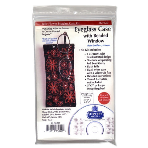 Beaded Window Eyeglass Case Kit by Sudberry House