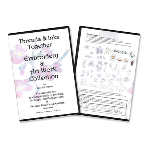 Threads & Inks Together: Embroidery & Art Work CD