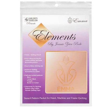 Emma Element Stencil Packet By Golden Threads