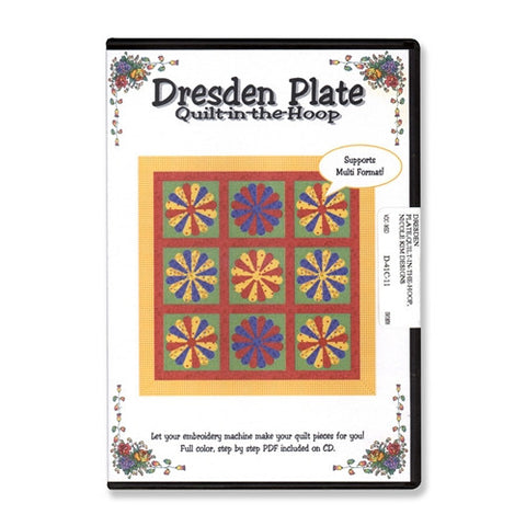 Dresden Plate Quilt-in-the-Hoop CD by Nicole Kim