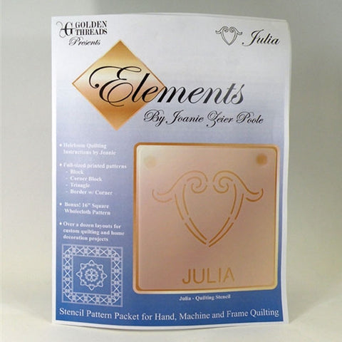 Julia Element, Golden Threads Stencil Pack