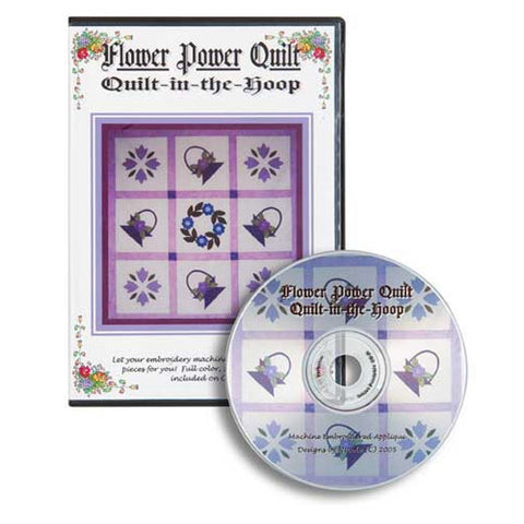 Flower Power Quilt-in-the-Hoop CD by Nicole Kim
