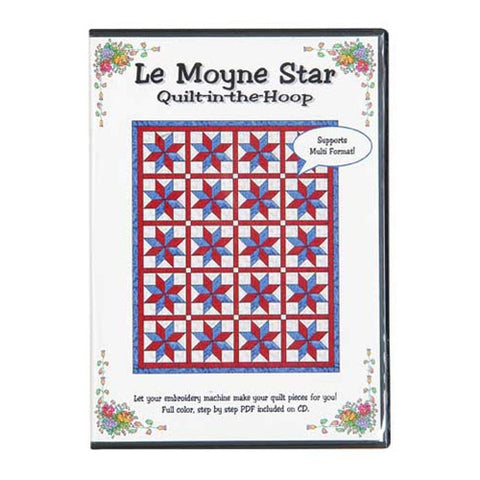 Le Moyne Star Quilt-in-the-Hoop CD by Nicole Kim