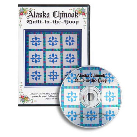 Alaska Chinook Quilt-in-the-Hoop CD by Nicole Kim