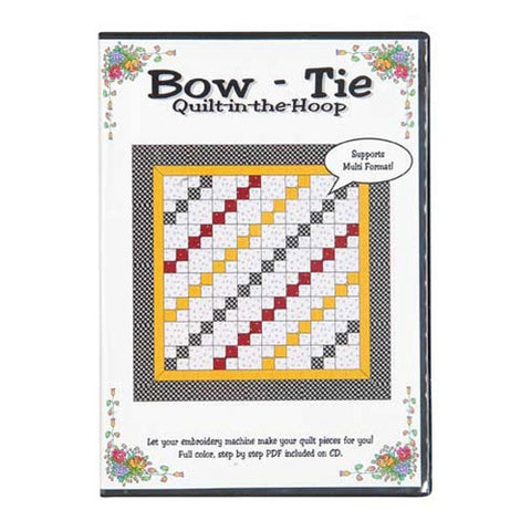 Bow-Tie Quilt-in-the-Hoop CD by Nicole Kim