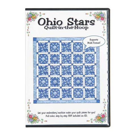 Ohio Stars Quilt-in-the-Hoop CD by Nicole Kim