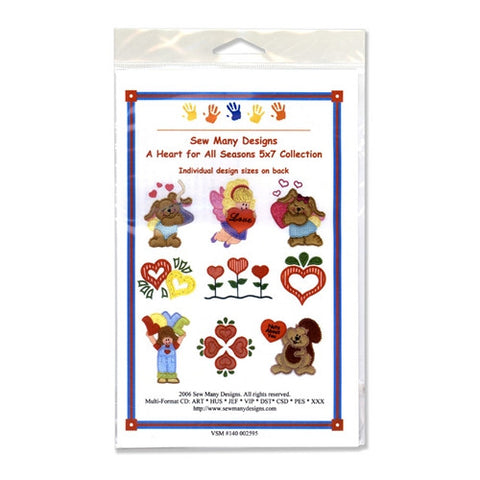 A Heart for all Seasons Design CD by Sew Many Designs