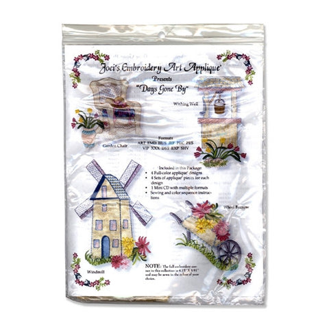 Days Gone by Design CD by Joei's Applique Magic