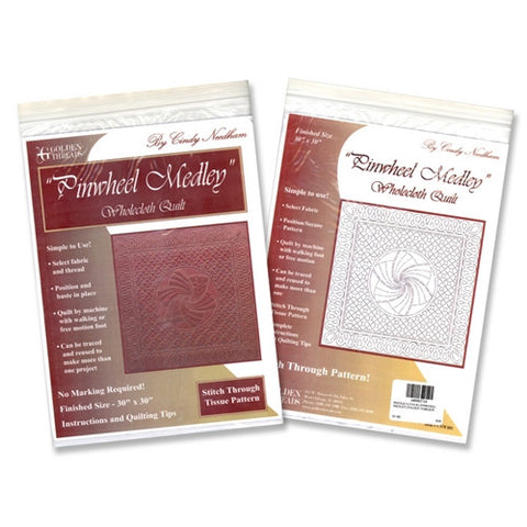 Wholecloth #1 Pinwheel Medley By Golden Threads