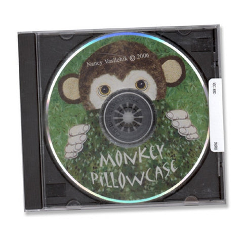 Monkey Pillowcase Design CD by Sew Biz