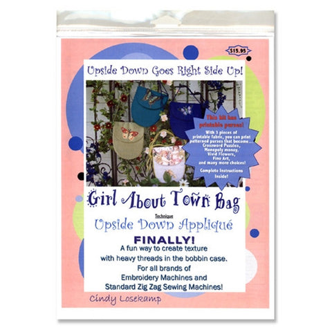 Girl About Town Bag Pattern CD by Cindy Losekamp