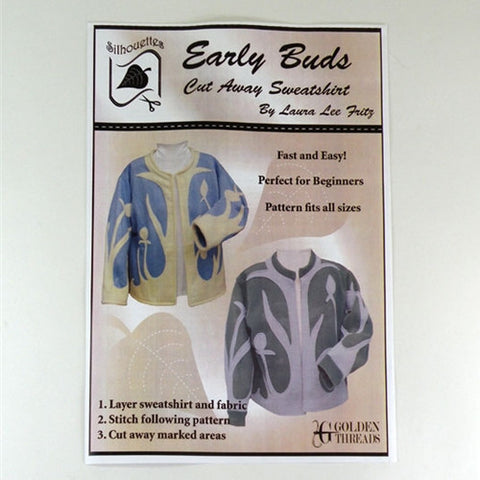 Early Buds Cut-Away Sweatshirt by Golden Threads
