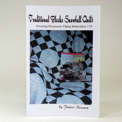 Traditional Black & White Snowball Quilt by J Stewart