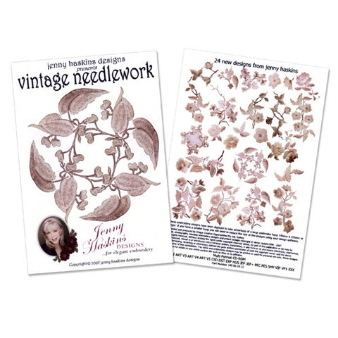 Vintage Needlework Design CD by Jenny Haskins