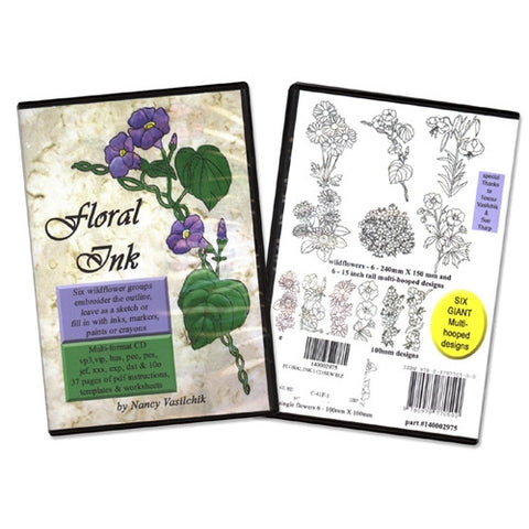 Floral Ink Design CD by Sew Biz