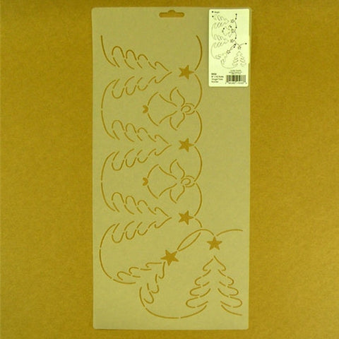 Angel Tree Border Stencil, Golden Threads