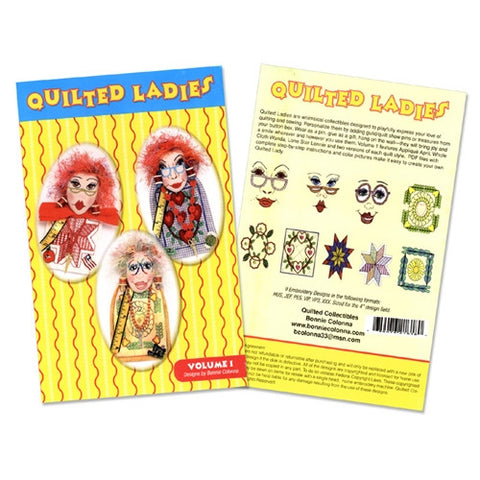 Quilted Ladies Designs 1 Design CD by Bonnie Colonna