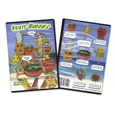 Fruit Buddies Design CD by Sew Biz