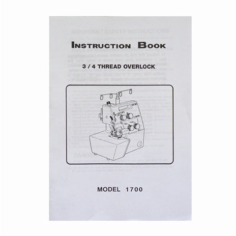 Instruction Book White Serger 1700