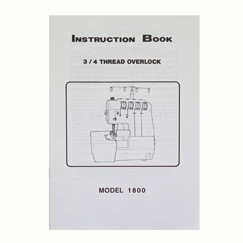 Instruction Book White Serger 1800