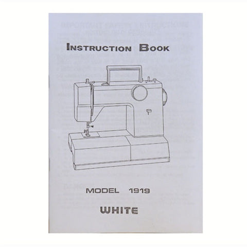 Instruction Book White 1919