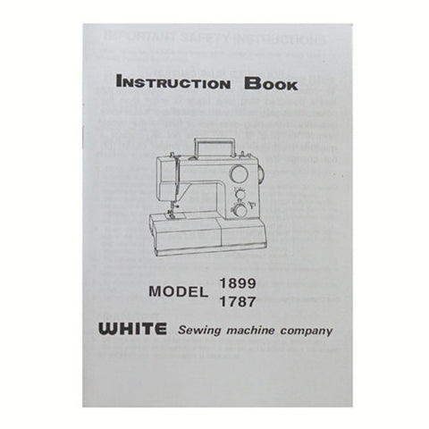 Instruction Book White 1899 & 1787