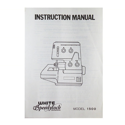 Instruction Book White Serger 1500