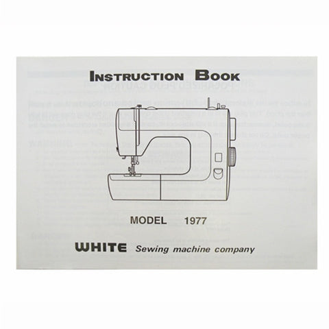 Instruction Book White 1977