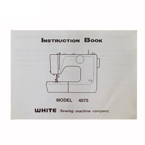 Instruction Book White 4075