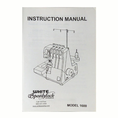 Instruction Book White Serger 1600