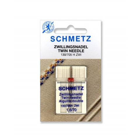 70/1.6 Schmetz Twin Needle,1 pack on a Card