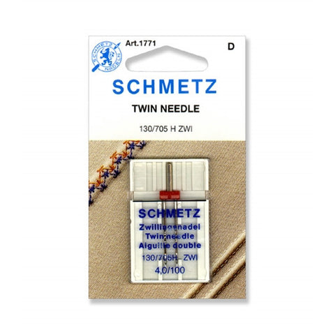 100/4.0 Schmetz Twin Needle,1 pack on a Card