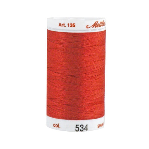 Mettler 40wt Cotton Quilting in Dusty Red in 500 Yard