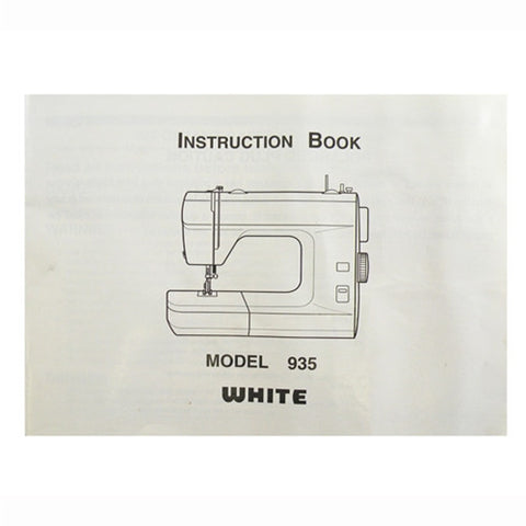 Instruction Book White 935