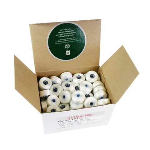 Magna-Glide Class M Poly Bobbin in White, Box of 100