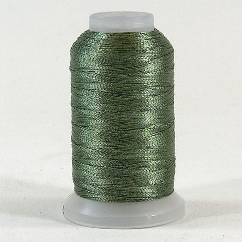 YLI Fine Metallic in Jade Green, 500yd Spool