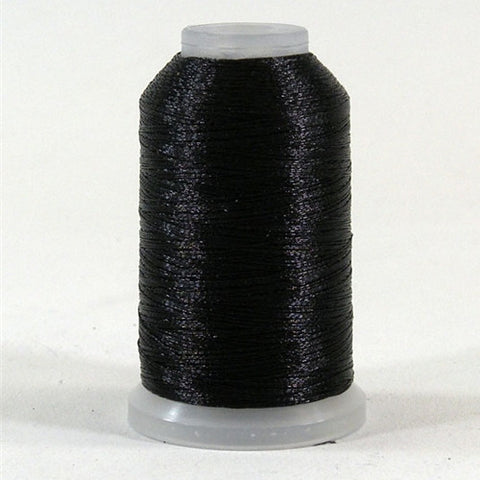 YLI Fine Metallic in Black, 500yd Spool