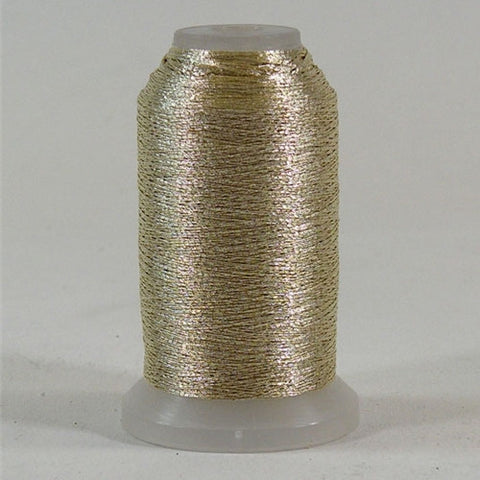 YLI Fine Metallic in Gold 1, 500yd Spool