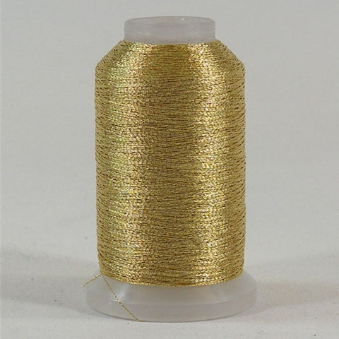YLI Fine Metallic in Gold 2, 500yd Spool