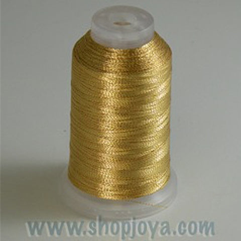 YLI Fine Metallic in Gold, 500yd Spool