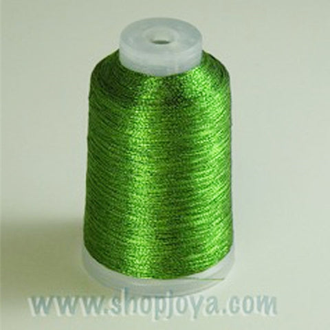 YLI Fine Metallic in Green, 500yd Spool