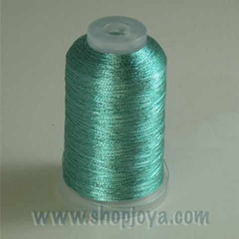 YLI Fine Metallic in Aqua, 500yd Spool