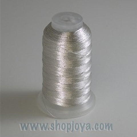 YLI Fine Metallic in Silver, 500yd Spool