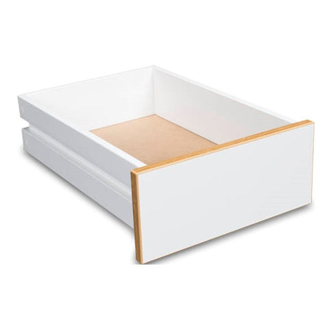 Optional Drawer for Sylvia Cutting Table Model 3000 in White with Oak Trim